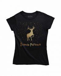 Camiseta Expecto Patronum Dorado (Chica) Talla S